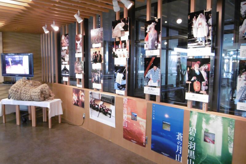 庄内空港で「松例祭」の展示をしております